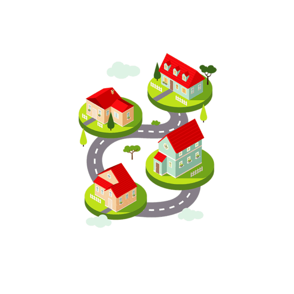 Isometric Houses Vector Houses isometric houses vector houses
