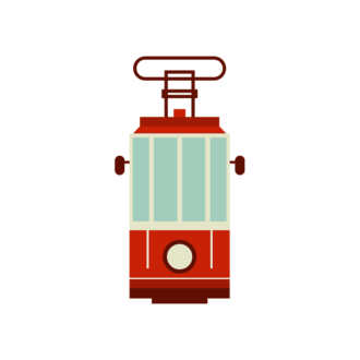 Istanbul Vector Cable Car Clip Art - SVG & PNG vector