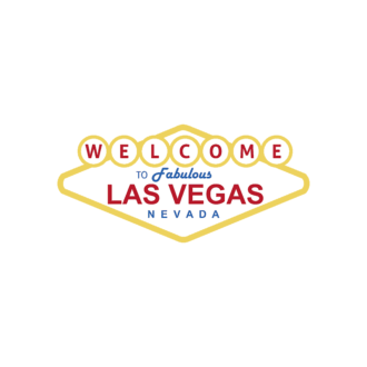 Las Vegas Vector Welcome Sign Clip Art - SVG & PNG vector