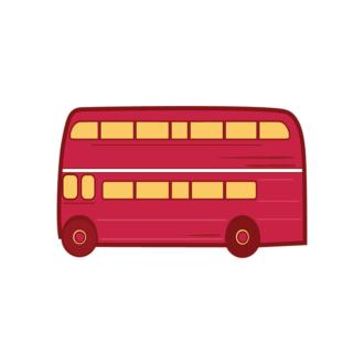 London Symbols Vector Set 1 Vector Bus Clip Art - SVG & PNG vector
