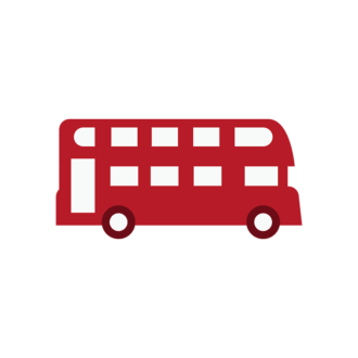 London Vector Bus Clip Art - SVG & PNG vector
