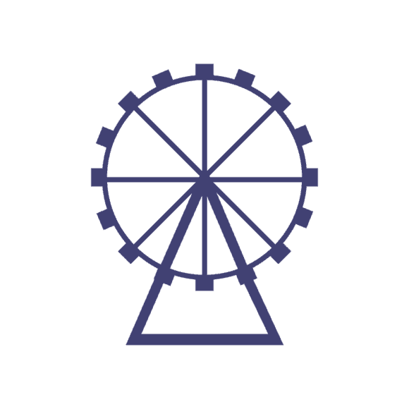 London Vector Ferris Wheel 1