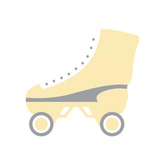 Los Angeles Vector Roller Skate Clip Art - SVG & PNG vector