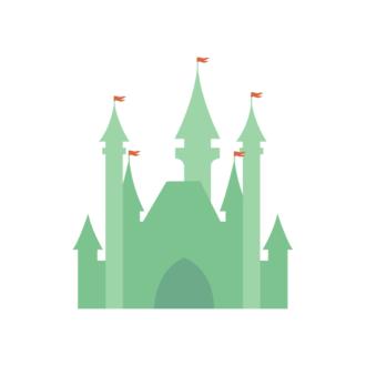 Los Angeles Vector Castle Clip Art - SVG & PNG vector