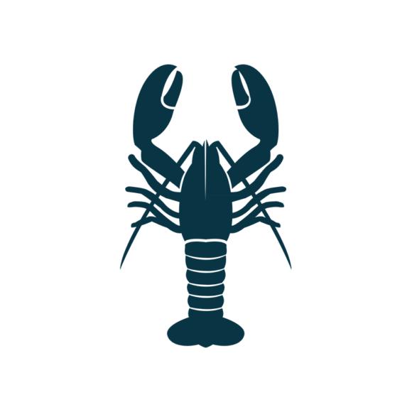 Marine Icons Vector 1 Vector Lobster 1