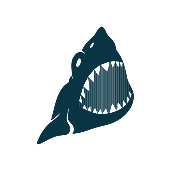 Marine Icons Vector 1 Vector Shark 02 1