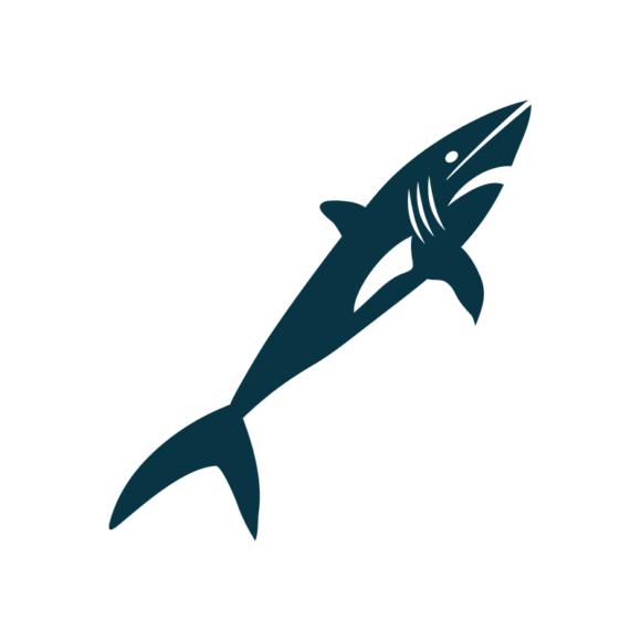 Marine Icons Vector 1 Vector Shark 03 1