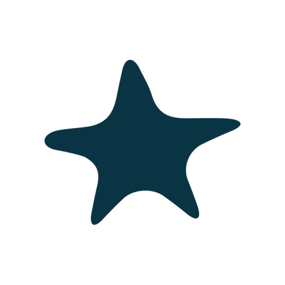 Marine Icons Vector 1 Vector Starfish 09 1