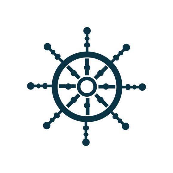 Marine Icons Vector 1 Vector Steering Wheel 1