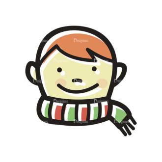 Merry Christmas Doodle Vector Set 7 Vector Boy Clip Art - SVG & PNG vector