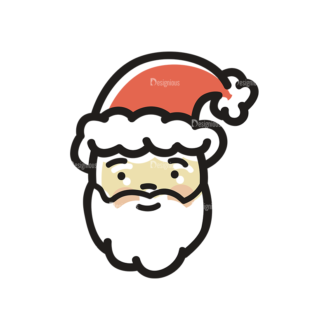 Merry Christmas Doodle Vector Set 7 Vector Santa Clip Art - SVG & PNG vector