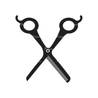 Metro Barber Shop Icons 1 Vector Scissors 02 Clip Art - SVG & PNG vector
