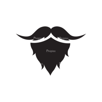 Metro Barber Shop Icons 1 Vector Beard Clip Art - SVG & PNG vector