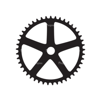Metro Bicycle Shop Icons 1 Vector Gear 01 Clip Art - SVG & PNG vector