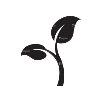 Metro Environment Set 1 Vector Leaves 07 Clip Art - SVG & PNG vector