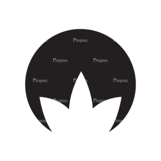 Metro Environment Set 1 Vector Leaves 09 Clip Art - SVG & PNG vector
