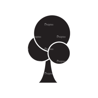 Metro Environment Set 1 Vector Tree Clip Art - SVG & PNG tree