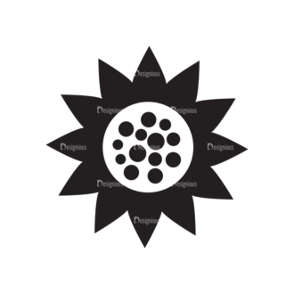 Metro Farming Icons 2 Vector Sunflower Clip Art - SVG & PNG vector