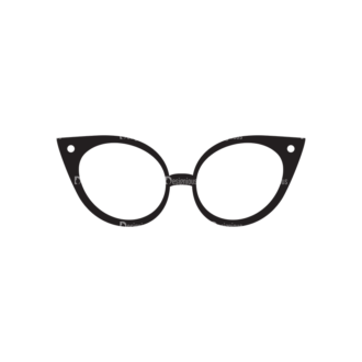 Metro Fashion Icons 1 Vector Eyeglasses Clip Art - SVG & PNG vector
