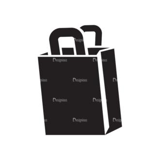 Metro Fashion Icons 1 Vector Paper Bag Clip Art - SVG & PNG vector