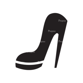 Metro Fashion Icons 1 Vector Shoes Clip Art - SVG & PNG vector