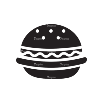 Metro Food Icons 1 Vector Burger Clip Art - SVG & PNG vector