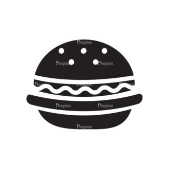 Metro Food Icons 1 Vector Burger Clip Art - SVG & PNG vector