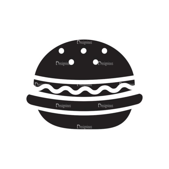 Metro Food Icons 1 Vector Burger 1