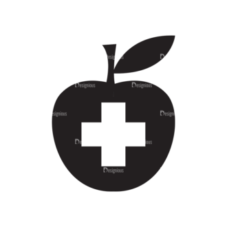 Metro Medical Icons 1 Vector Apple Clip Art - SVG & PNG vector