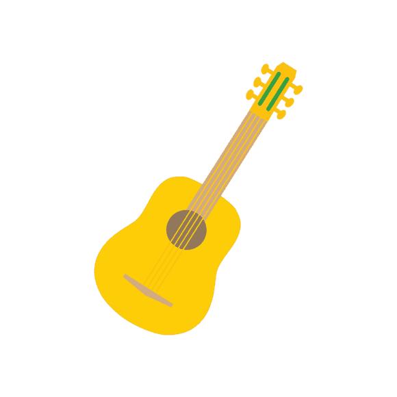 Mexico City Vector Guitar 1