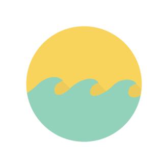 Miami Vector Wave Clip Art - SVG & PNG wave