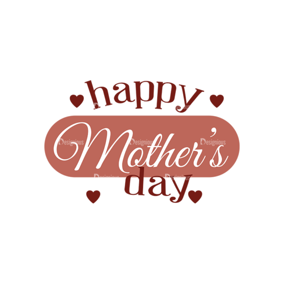 Mother'S Day Typographic Elements Vector Text 05 5