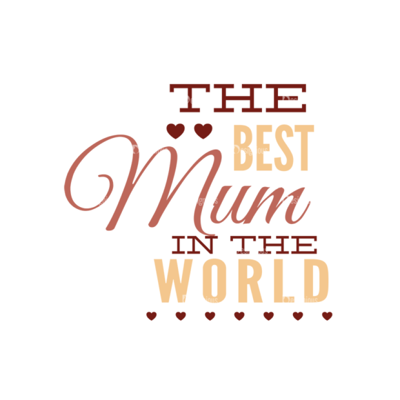 Mother'S Day Typographic Elements Vector Text 06 5
