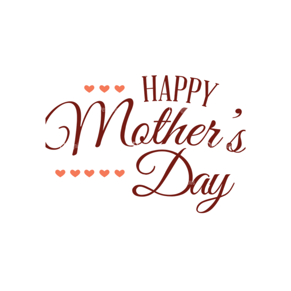 Mother'S Day Typographic Elements Vector Text 08 5