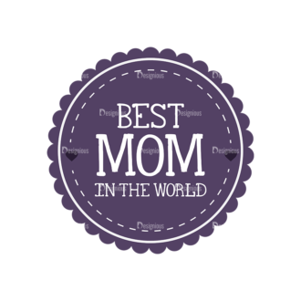 Mothers Day Vector Elements Vector Mothers Day 03 Clip Art - SVG & PNG vector