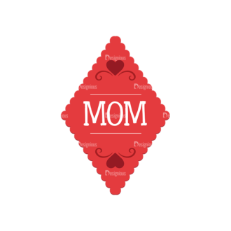 Mothers Day Vector Elements Vector Mothers Day 04 Clip Art - SVG & PNG vector