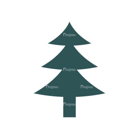 Nature Cute Icons Set 1 Vector Pine Tree 1