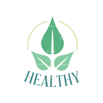 Nature Health And Organic Icons Set 2 Vector Logo 06 Clip Art - SVG & PNG vector