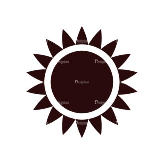 Nature Vector Elements Set 1 Vector Sun Clip Art - SVG & PNG vector