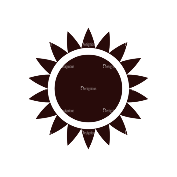 Nature Vector Elements Set 1 Vector Sun 1