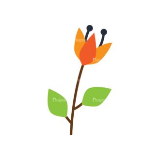 Nature Vector Set 2 Vector Flowers 11 Clip Art - SVG & PNG vector