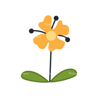 Nature Vector Set 2 Vector Flowers 25 Clip Art - SVG & PNG vector