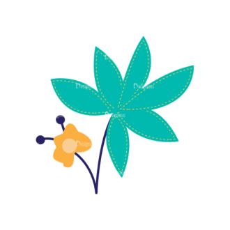 Nature Vector Set 2 Vector Flowers 28 Clip Art - SVG & PNG vector