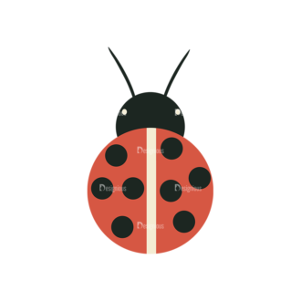 Nature Vector Set 2 Vector Lady Bug Clip Art - SVG & PNG vector