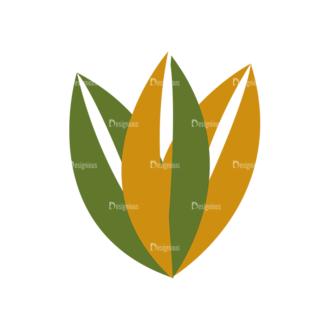 Nature Vector Set 2 Vector Leaves 18 Clip Art - SVG & PNG vector