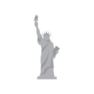 New York Vector Liberty Clip Art - SVG & PNG vector
