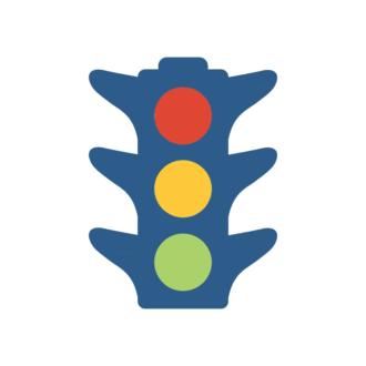 New York Vector Traffic Light Clip Art - SVG & PNG vector