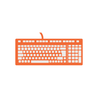 Office Icons Vector Set 1 Vector Keyboard Clip Art - SVG & PNG vector