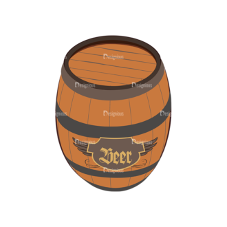 Oktoberfest Set 2 Vector Beer 17 Clip Art - SVG & PNG vector