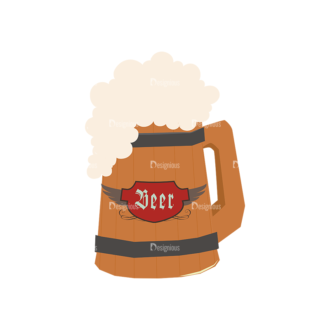 Oktoberfest Set 2 Vector Beer 18 Clip Art - SVG & PNG vector